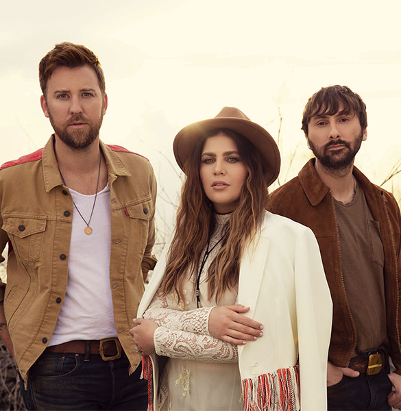 Image of Hillary Scott, Charles Kelley and Dave Haywood of Lady Antebellum